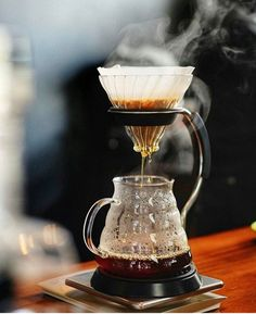 Steamy Hario V60 using the V60 Arm Stand sturdy with a great base