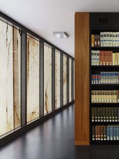 Library shelves and view of the facade from inside (Photo: Stefan Müller)
