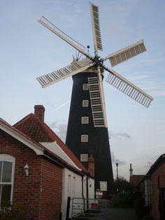 Windmill in English countyside