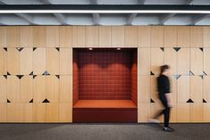 Pedra Silva Arquitectos has completed the office design for global product and technology company, OLX Group, located in Lisbon, Portugal. Garage Storage Shelves, Garage Storage Solutions, Storage Ideas, Corporate Interiors, Office Interiors, Office Lockers, Locker Designs, Office Designs, Open Office