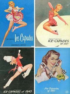 Ice-Capades.....The Ice Capades were a traveling ice show that ran from 1940 to 1995 featuring ex-Olympian skaters with elaborate set-pieces/themes, and stunning costumes.....I used to love going to see them!!