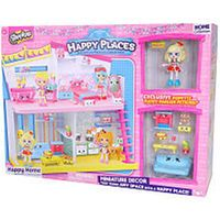Shopkins Happy Places Miniature Decor with Popette and Puppy Parlor Petkins - Happy Home