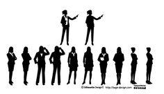 [フリーイラスト素材] クリップアート, 人物, 集団 / グループ, 人物 (シルエット), 職業, ビジネスマン