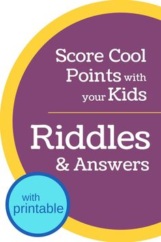 Riddles for kids are great for getting kids to think and for making them laugh! These 15 riddles have answers (and include a printable). Funny Riddles, Jokes And Riddles, Funny Jokes For Kids, Kid Jokes, Riddles Kids, Mind Riddles, Riddles With Answers Clever, Mystery Riddles, Space Activities For Kids
