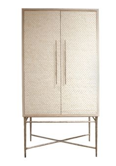 Heron Lorica Armoire, Bone Inlay