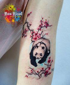 Panda Tattoos Cute Tattoo Watercolor Pyrography Cool Tatoos Tatting Piercings Body Art Peircings