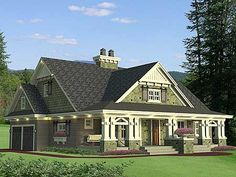 Plan W14604RK: Craftsman, Northwest, Corner Lot House Plans & Home Designs