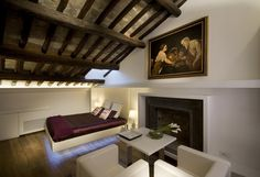 Exposed beams and exquisite fabrics