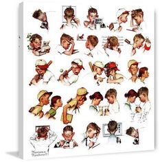 Marmont Hill Day in the Life of a Boy by Norman Rockwell Painting Print on Canvas, Size: 48 inch x 48 inch, Multicolor