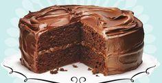 Шоколадный торт Пища дьявола от Анны Олсон.