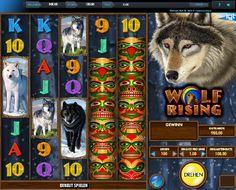 Wolf's Großzügigkeit kennt keine Grenzen! http://www.online-kasino-spielautomaten.com/spiele/wolf-rising-slot-spiel #onlinespiel #spielautomatengratis #wolfrising