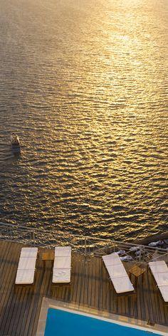 Santorini gold, Sunset in Fira