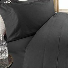 """300 Thread Count Queen 300TC Siberian Goose Down Comforter 8 PC Bed in a Bag, Black Solid 300 TC by Egyptian Linens. $199.99. Brand New and Factory Sealed.. Beautiful Duvet Set (1 Duvet Cover, 2 Shams). 1 Flat Sheet (92"""" x 102""""), 1 Fitted Sheet (60"""" x 80"""") and 2 Standard Pillow Cases (20"""" x 30""""). Luxury White Siberian Goose Down Comforter (86X86 Inches). True baffle box design to keep the down in place. This Luxury 8-Piece Bed in a Bag Siberian Goose Down Comfo..."""