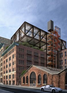 Rogers Stirk Harbour + Partners brings high-tech industrial chic to N. Industrial Architecture, Facade Architecture, Building Facade, Old Building, Interior Rendering, Interior Exterior, New York Projects, Famous Buildings, Adaptive Reuse