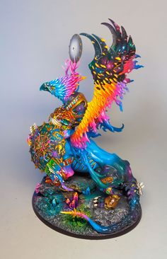 "louisesugdenart: ""Greater Daemon of Tzeentch. (Finished at last) "" This is gorgeous! We'll done"