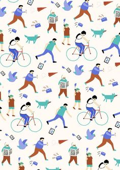(10) It's Nice That : Illustrator Fuchsia MacAree packs a punch with her bold, witty work | print | Pinterest / Pattern / Design / Inspiration / Ideas / Blue / Green / Quirky / Crisp / Scandinavian / Palette