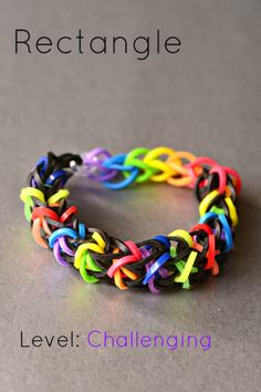 Want to learn how to make Rainbow Loom Bracelets? We've found many rainbow loom instructions and patterns! We love making bracelets, creating and finding helpful loom tutorials. Crazy Loom Bracelets, Loom Band Bracelets, Rubber Band Bracelet, Rainbow Loom Bracelets, Rainbow Loom Tutorials, Rainbow Loom Patterns, Rainbow Loom Creations, Loom Bands Designs, Loom Band Patterns