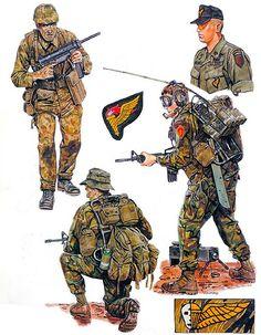 """Vietnam Airborne: • Marine scout, 1st Force Recon. Co., 1965 • Pathfinder, 1st Aviation Bn., 1970  • Pathfinder, 1st Aviation Bn., 1969 • Patrol leader, 3d Force Recon. Co., 1971"", Ronald Volstad"