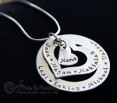 Christmas gift for grandma, nana, grandmother https://www.etsy.com/listing/189470562/stacked-mommy-necklace-mom-nana-or-grams