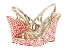 Lilly Pulitzer Sophie Strappy Wedge Women's Wedge Shoes - Gold Metallic