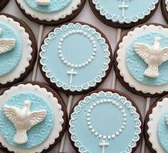 Batizado Baptism Cookies, First Communion Cakes, Cupcakes, Cake Pops, Christening, Food Art, Oreo, Holi, Baby Shower
