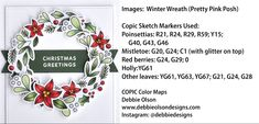 Red Christmas, Christmas Cards, Xmas, Pretty Pink Posh, Copic Sketch Markers, Distress Oxide Ink, Winter Cards, Red Berries, Copics
