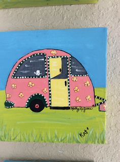 A personal favorite from my Etsy shop https://www.etsy.com/listing/479103051/original-acrylic-cool-camper-6x6-on