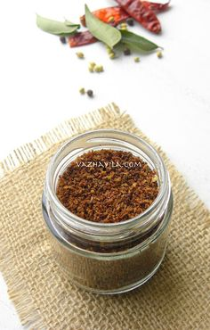 Chammanthi Podi / Chutney Powder with roasted coconut and spices
