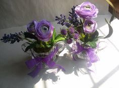 Set of Flowers Sweet Silk Flowers Vintage by NauticoCreations, $35.00