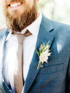 boutonnieres - photo by Veronica Ellerman Photography http://ruffledblog.com/vibrant-bohemian-wedding-inspiration