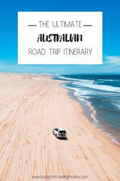 We've put together the ultimate Australian road trip itinerary. It includes the best drives in Australia and the best Australian attractions. Perth, Brisbane, Melbourne, Sydney, Australia Travel Guide, Visit Australia, Western Australia, Roadtrip Australia, Australia Honeymoon