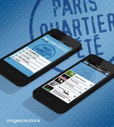 Application Mobile (iPhone) du Festival Paris Quartier d'été #Paris #Festival | Une réalisation de l'agence mobile www.imagescreations.fr