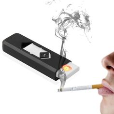 Cheap smokeless, Buy Quality smokeless cigarette Directly from China Novelty USB Electronic Rechargeable Battery Flameless Cigar Cigarette Electronic Lighter White No Gas smokeless hot Usb, Fire Starters, Save Energy, Lighter, Wordpress, Ebay, Creative, Electronic Cigarettes, Free Shipping