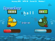 Battle people in real-time. Type words to fire torpedoes at your opponents submarine. The faster you type, the more torpedoes you'll fire. Educational Games For Kids, Learning Games, Battle Games, Tutorials, Fire, Play, Lettering, Words, People
