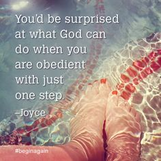 Step out and find out! You Can Begin Again #faith #stepout