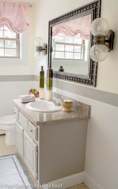 Weekend bathroom makeover on a budget
