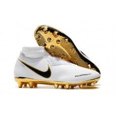 ce4f9305a4 Nike Football Boots With Sock Cheap - Nike Phantom Vision Elite DF AG Pro  White Gold Black - No Lace Football Boots - Artificial Ground - Mens  Size 38