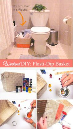 Best part of a Plasti-dip basket? It's waterproof and adds a splash of color.