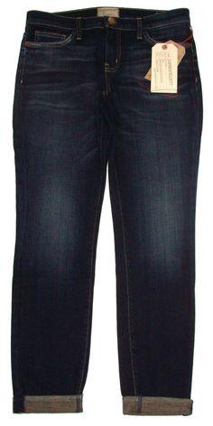NEW Current Elliott Womens Jeans THE ROLLED SKINNY Sidecar Stretch Denim 29 $218 #CurrentElliott #SlimSkinny