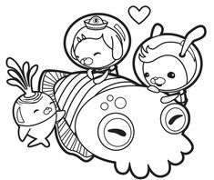 octonauts gup x coloring pages | The Octonauts Gup E | Colouring for the girls | Pinterest ...