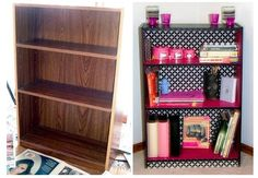 Use bookshelf to add to master bedroom table/desk - not those specific colors, though.