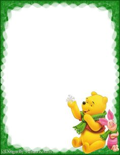 Pin by Kylli Ta on Taustad Winnie The Pooh Christmas, Winnie The Pooh Friends, Disney Christmas, Disney Frames, Stationary Printable, Page Borders Design, Kids Background, Disney Ornaments, Christmas Coloring Pages