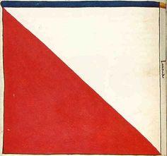 "f°24v, Banner of Town of Ortelsburg (Szczytno), Elbing Komturia -- ""Banderia Prutenorum"", by Jan Dlugosz, 1410"