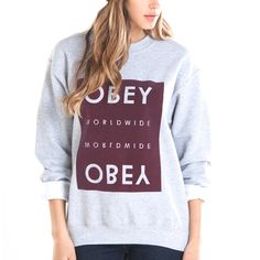 OBEY | Worlwide Block Crew Sports Grey