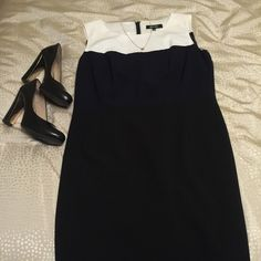 Nine West Dress Winter white, navy and black!  Wonderful for work and stretchy! Nine West Dresses