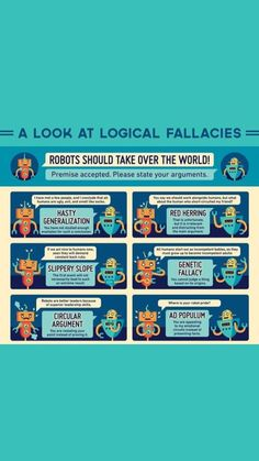 Logical Fallacies, Robot Illustration, Girl Advice, Red Herring, Logic Puzzles, Sociology, Social Issues, Statistics, Social Justice