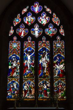 Church Stained Glass Windows | File:Grouville Church stained glass window 07.JPG - Wikimedia Commons/Depicts the life of Christ the Messiah.