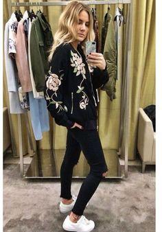 Fashion Cognoscente: Trend Alert: Embroidered Satin Bomber Jackets