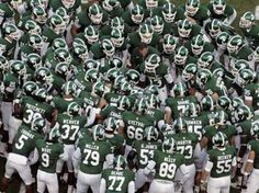 Michigan State Spartans Football team prepare to do battle!!