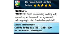 FANTASTIC! David was amzing working with me and my ex to come to an agreement before...